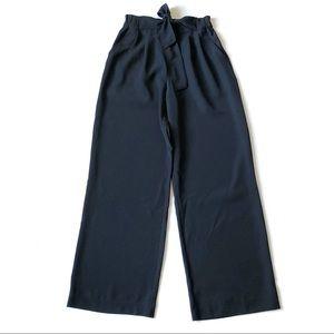 Lululemon High Waist Tied Wide Leg Noir Pants 6